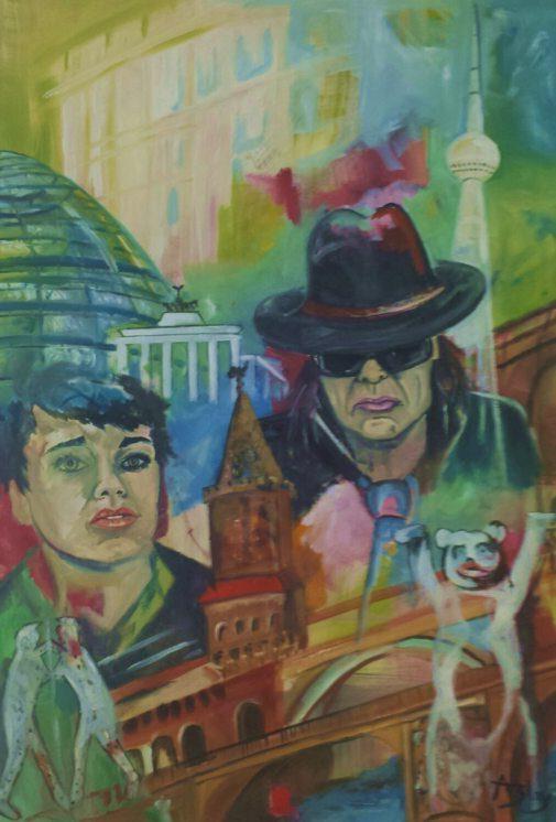 Friends in Berlin 2 Öl auf Leinwand  70 x 100 cm