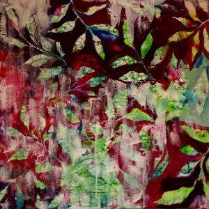 Autum Red / 100 x 100 cm/ Acryl-Lasurtechnik