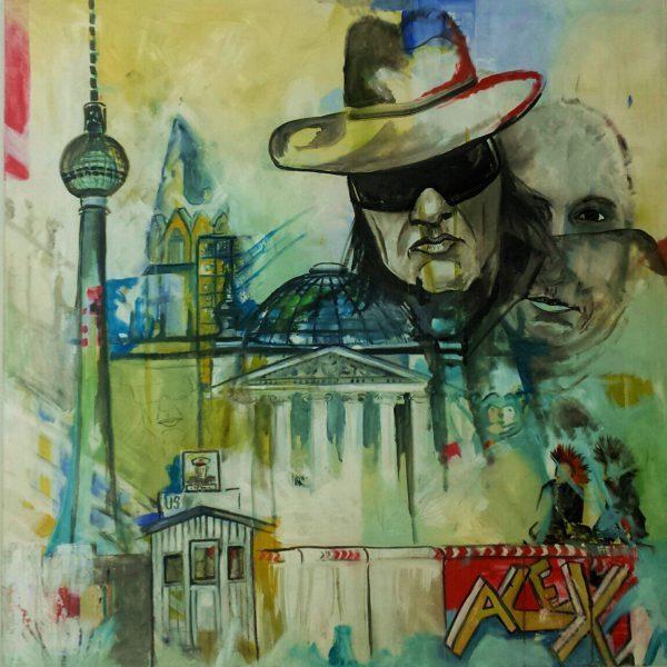 Friends in Berlin-1 Ölbild 100 x 100 verkauft